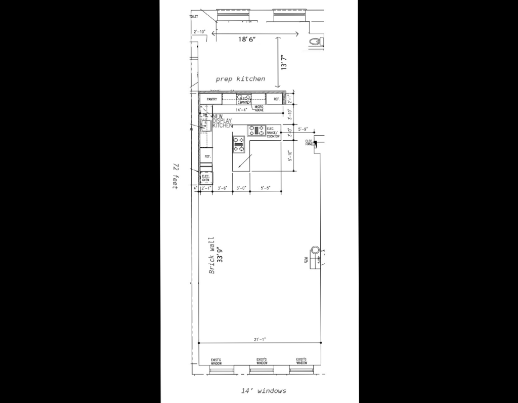 kitchen studio plan